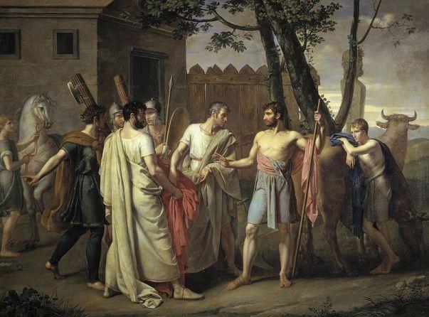 800px-Cincinato_abandona_el_arado_para_dictar_leyes_a_Roma,_c.1806_de_Juan_Antonio_Ribera