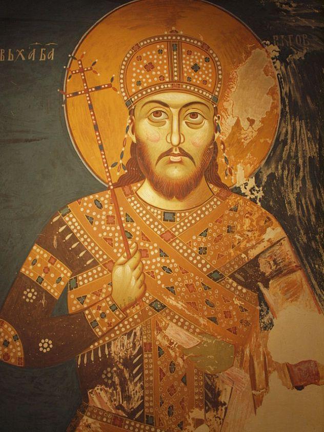 Stefan_Uroš_IV_Dušan_of_Serbia_Lesnovo_fresco